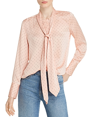Equipment T-shirts LUIS DOTTED TIE-NECK SHIRT