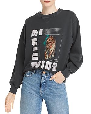 Anine Bing T-shirts WILD CAT GRAPHIC SWEATSHIRT
