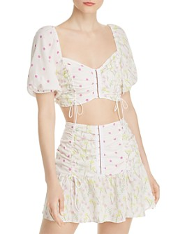 For Love & Lemons - Strudel Crop Top