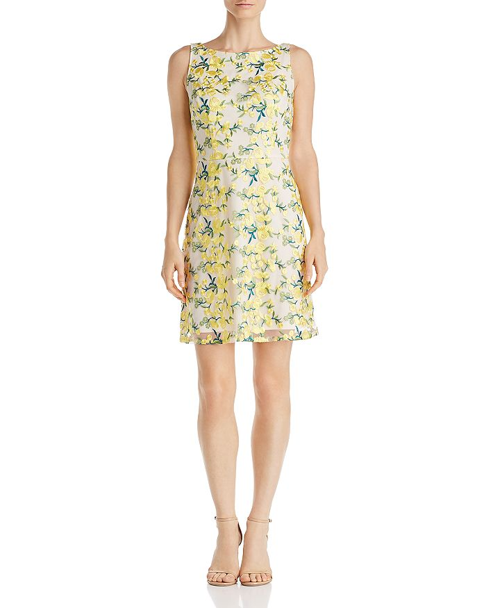 Adrianna Papell - Floral Embroidered Dress