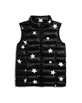 AQUA - Girls' Packable Star Print Puffer Vest, Big Kid - 100% Exclusive