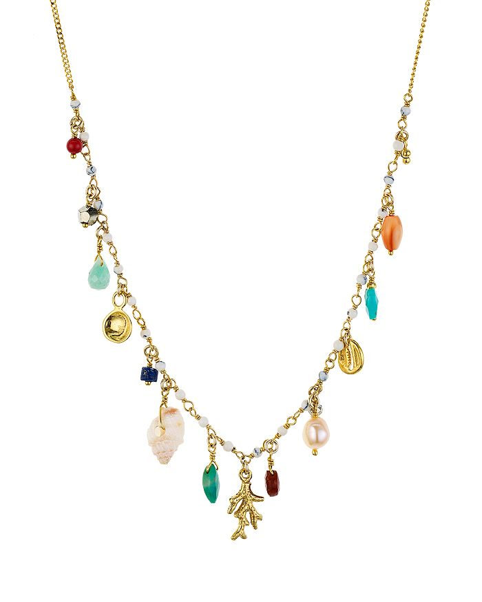 """Chan Luu - Adjustable Dangle Necklace in 18K Gold-Plated Sterling Silver, 16"""""""