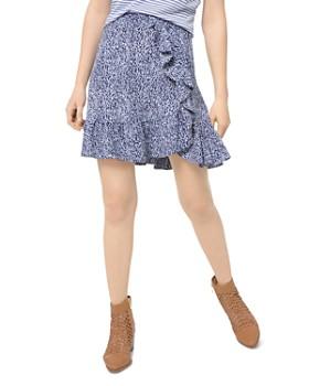 MICHAEL Michael Kors - Ikat-Print Ruffled Mini Skirt