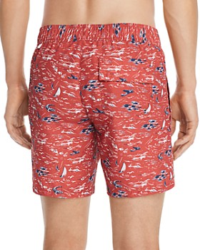 Lacoste - Sea-Print Swim Shorts