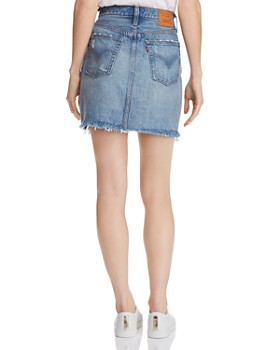 Levi's - High-Rise Deconstructed Denim Skirt in High Plains
