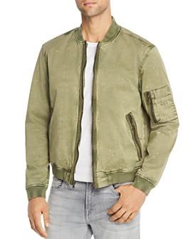 John Varvatos Star USA - Bleach-Splattered Bomber Jacket