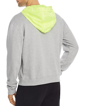 MCM - Mixed-Media Hooded Sweatshirt