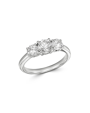 Bloomingdale's Diamond 3-Stone Ring in 14K White Gold, 1.5 ct. t.w. - 100% Exclusive