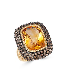Bloomingdale's - Citrine & Brown Diamond Statement Ring in 14K Yellow Gold - 100% Exclusive