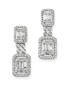 Bloomingdale's - Diamond Mosaic Drop Earrings in 14K White Gold, 1.0 ct. t.w. - 100% Exclusive