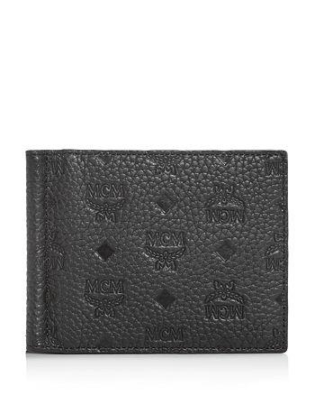 MCM - Max Money Clip Embossed Leather Bi-Fold Wallet