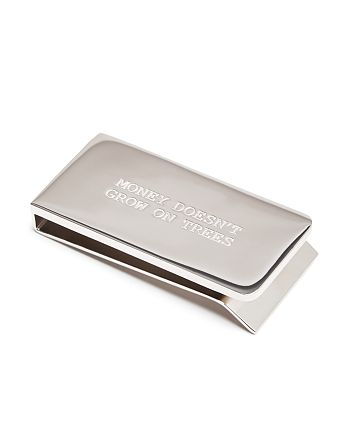 """Paul Smith - """"Money Doesn't Grow On Trees"""" Engraved Money Clip"""