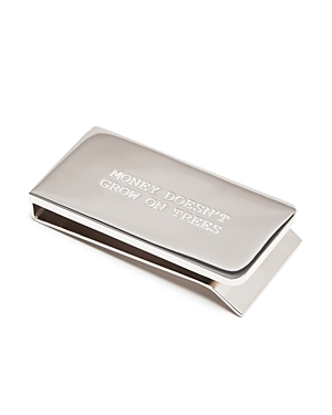 Paul Smith 0 MONEY DOESN'T GROW ON TREES ENGRAVED MONEY CLIP