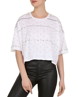 The Kooples - Oversized Studded Jersey Tee