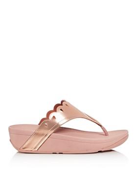 FitFlop - Women's Esther Floret Platform Thong Sandals