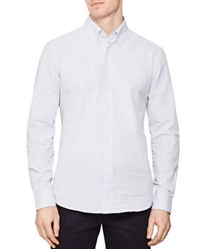 REISS - Bappe Seersucker Regular Fit Button-Down Shirt