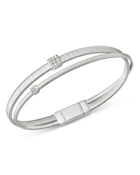 Marco Bicego - 18K White Gold Masai Diamond Bangle Bracelet