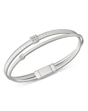 Marco Bicego 18K White Gold Masai Diamond Bangle Bracelet-Jewelry & Accessories