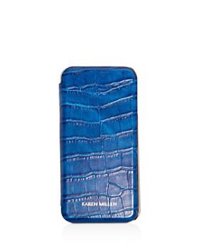8237d89637b5 KAREN MILLEN - Snake-Embossed iPhone 7 Folio Case ...