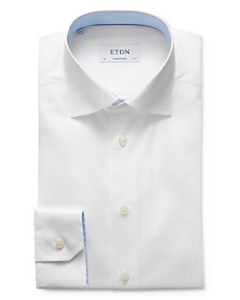 Eton - Solid Contrast Regular Fit Dress Shirt