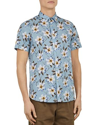 Ted Baker - Baboo Plain Sateen Slim Fit Button-Down Shirt