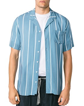 Zanerobe - Miami Short-Sleeve Striped Slim Fit Shirt