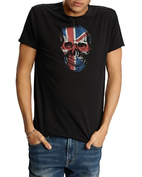 ccfc395f John Varvatos Star USA - Raw-Edge Union Jack Skull Graphic Tee ...