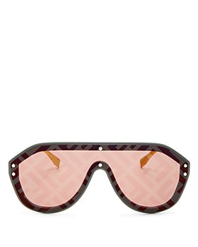 Fendi - Unisex Logo-Print Shield Sunglasses, 99mm
