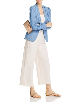 Generation Love - Juniper Puff-Sleeve Chambray Blazer