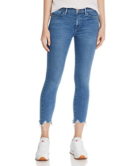 3x1 - Shredded-Hem Cropped Skinny Jeans in Alcott