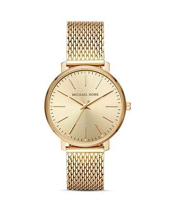 Michael Kors - Pyper Monochrome Mesh Bracelet Watch, 38mm