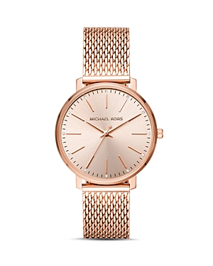 Michael Kors Pyper Monochrome Mesh Bracelet Watch, 38mm