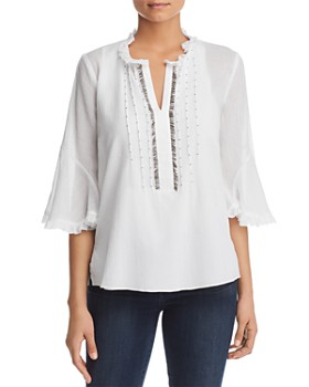 b5dfe75d894bf5 Le Gali - Pipa Embellished Gauze Blouse - 100% Exclusive ...