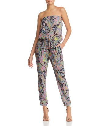 Nikki Paisley Print Strapless Jumpsuit   100% Exclusive by Le Gali