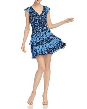 Parker - Paola Ruffled Floral-Print Mini Dress