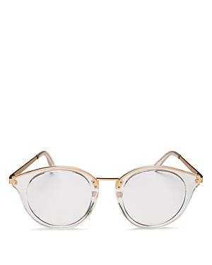 Quay Unisex Gotta Run Round Blue Light Glasses, 51mm