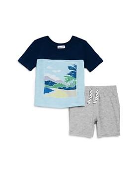 Splendid - Boys' Color-Block Beach Tee & Shorts Set - Baby