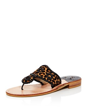 Jack Rogers - Women's Jacks Leopard Print Thong Sandals