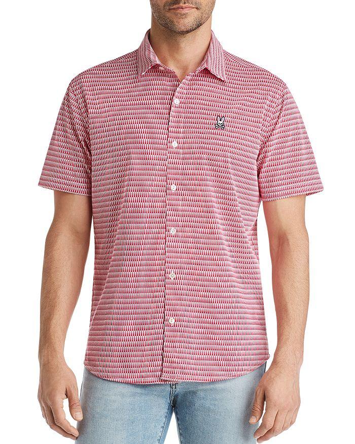 Psycho Bunny - Barrow Short-Sleeve Geometric-Print Classic Fit Shirt