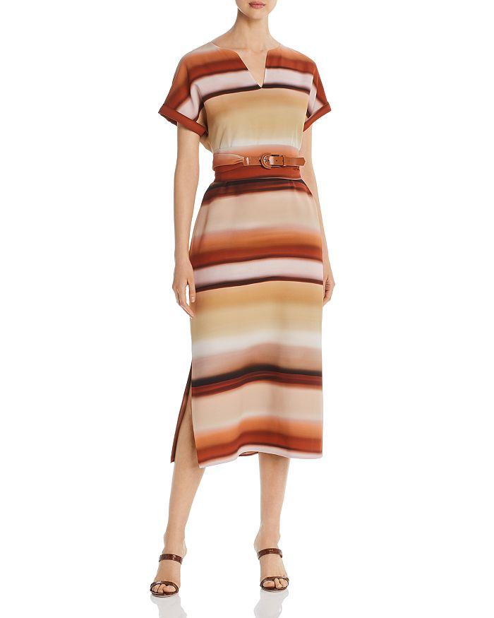 Lafayette 148 New York - Cosimia Ombré-Stripe Midi Dress