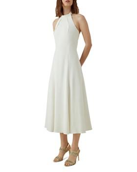 KAREN MILLEN - Halter A-Line Midi Dress