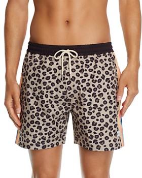 DUVIN - Leopard-Print Swim Shorts