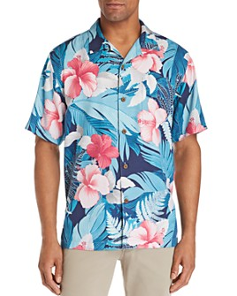 Tommy Bahama - Hibiscus Hues Short-Sleeve Printed Classic Fit Silk Camp Shirt