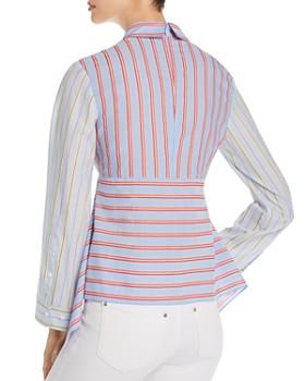 Escada Sport - Nefisera Mixed-Stripe Collared Top