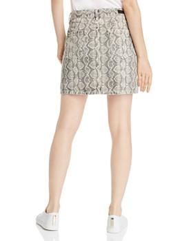 BLANKNYC - Snake Print Denim Mini Skirt