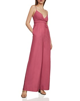 BCBGMAXAZRIA - Empire-Waist Wide-Leg Jumpsuit