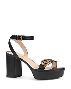 Gucci - Women's Marmont Double G Platform Sandals