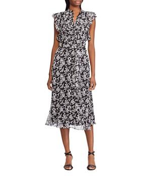 Ralph Lauren - Floral Flutter-Sleeve Dress