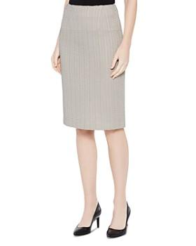 Misook - Basketweave Textured Pencil Skirt