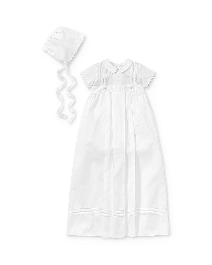 Kissy Kissy - Boys' 3-Piece Christening Gown, Suit & Bonnet Set - Baby